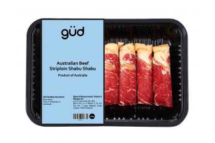 Australian Beef Striploin Shabu Shabu 100g (Frozen)