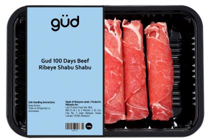 Gud 100 Days Grain Fed Beef Ribeye Shabu Shabu 100g (Frozen)