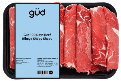 Gud 100 Days Grain Fed Beef Ribeye Shabu Shabu 500g (Frozen)
